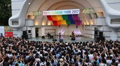 Approximately 5,000 Tokyo Rainbow Pride participants marched for LGBT rights in Shibuya, gathering about 100,000 people. The biggest pride parade ever!